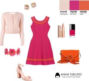 Flame and Pink Yarrow di annaturcato contenente shoulder handbags