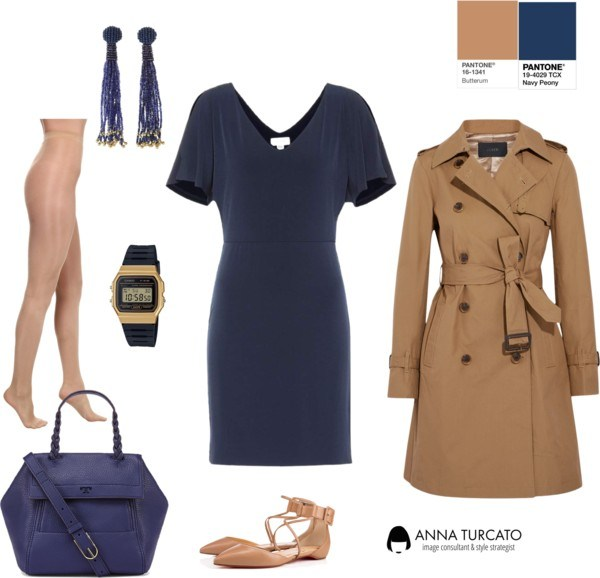 Butterum + Navy Peony by annaturcato featuring a velvet dress