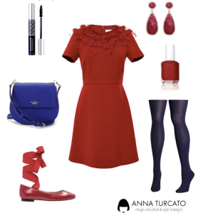 Red dress for winter Lady by annaturcato featuring a cross body