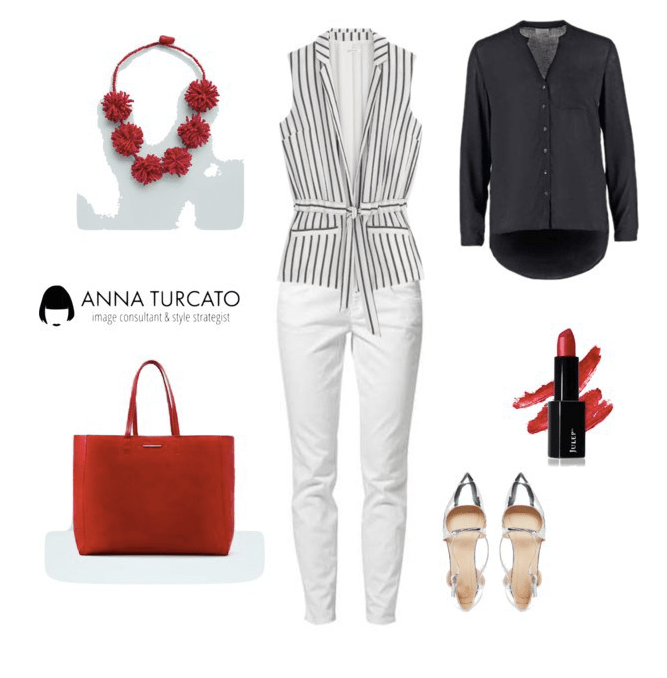 The white jeans with gilet di annaturcato contenente Benetton