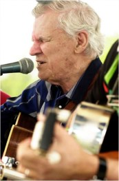 Doc Waston (founder of MerleFest) preforms on the Americana stage friday at MerleFest.