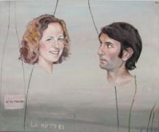 Cora's and Thibaut's wedding portrait