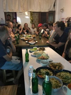 Hostel dinner in Chiang Mai