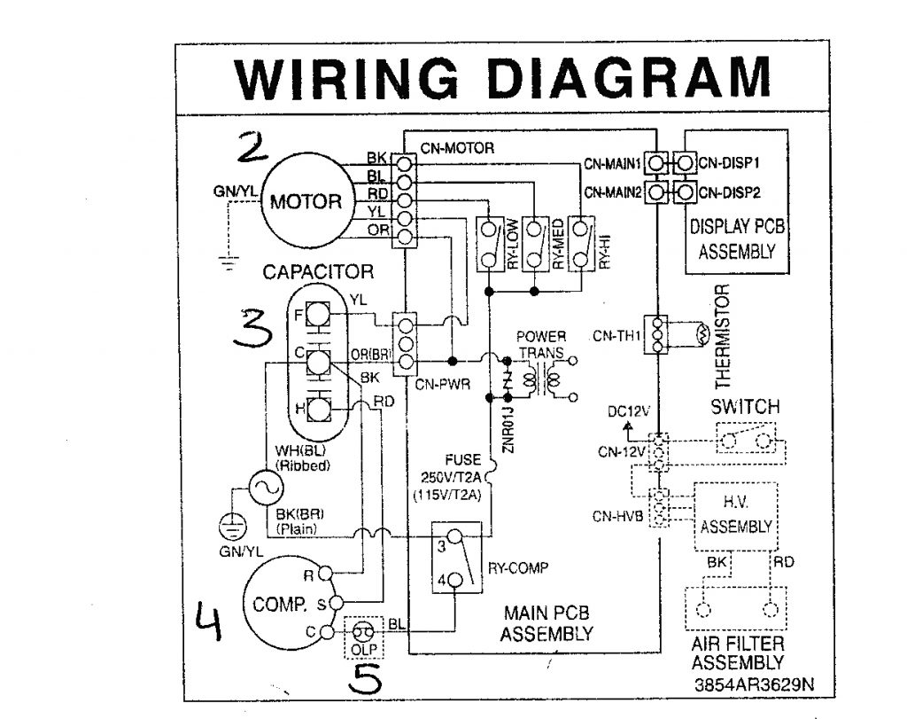 Ac Wire Diagram Wiring Diagram