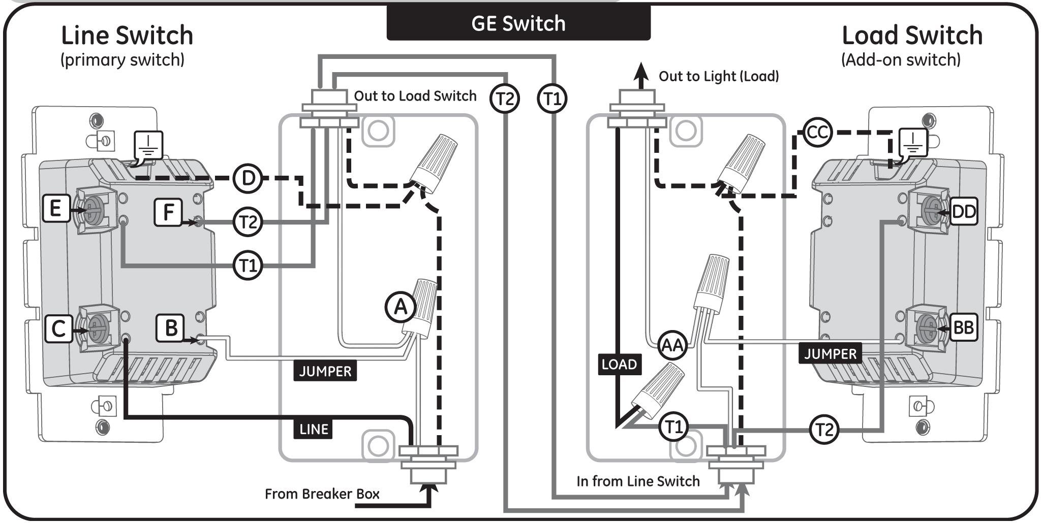 Ge Z Wave 3 Way Switch Wiring Diagram