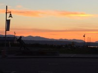 The beautiful Cascade mountains at sunset