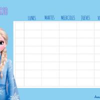 Horarios de Clase de Frozen