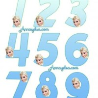 Numeros de Elsa Frozen