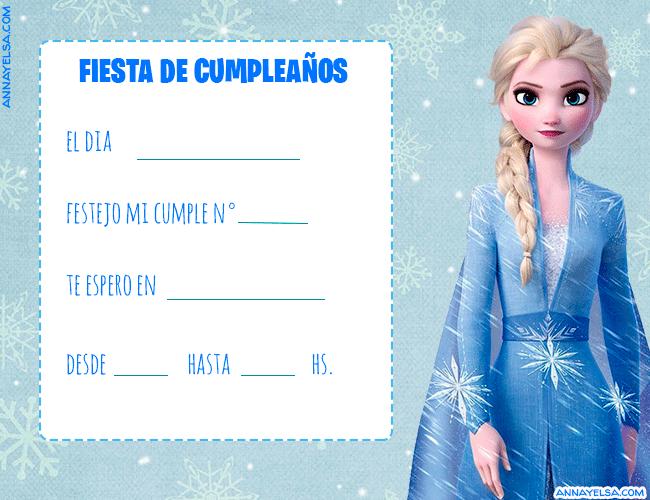 Tarjetas de Cumpleanos Elsa Frozen II