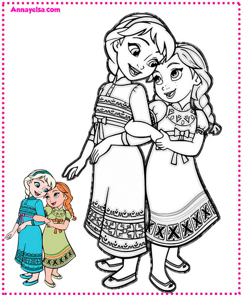 Imprimibles de Frozen Printables pages coloring