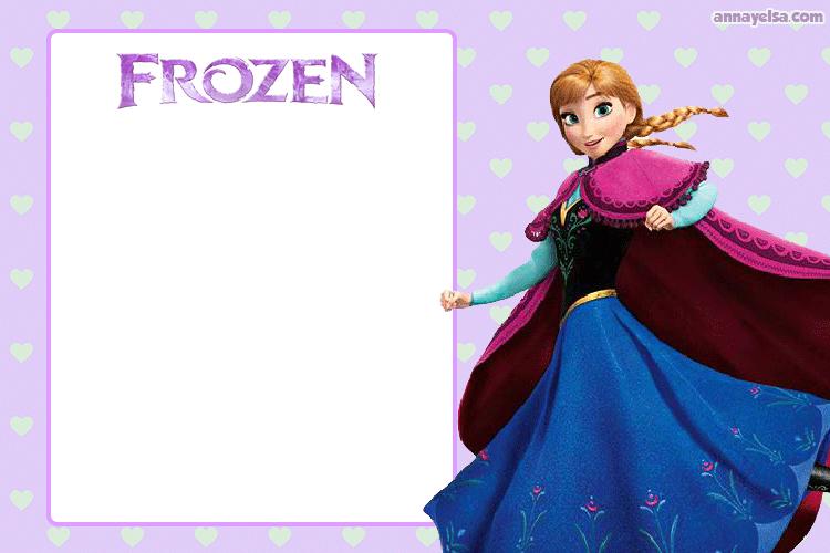Invitaciones de Cumpleanos Anna Frozen