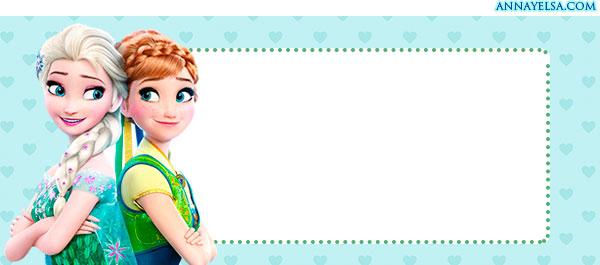 Imprimir etiquetas de Frozen