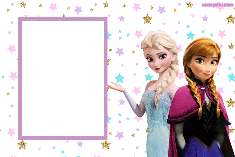 Frozen Elsa y Anna Convite Fiesta
