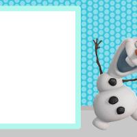 Modelos de invitaciones de Frozen para descargar gratis
