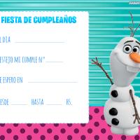 Modelos de invitaciones de cumpleanos de Frozen