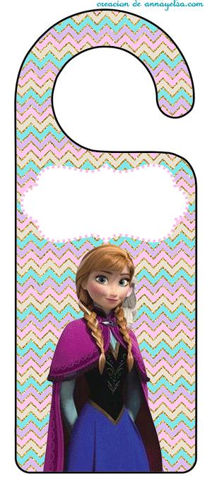 Frozen inspired - cuelga picaporte frozen adornos para imprimir