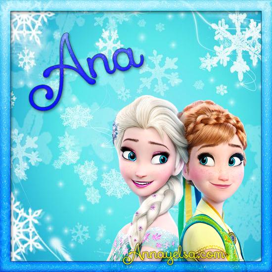 Imagen de Frozen con nombre Ana