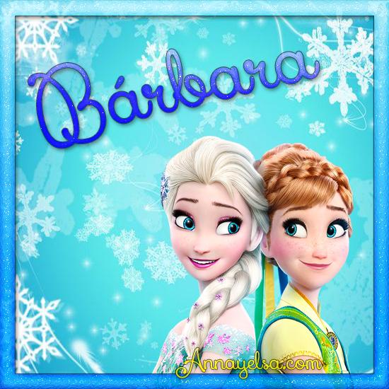 Imagen de Frozen con nombre Bárbara