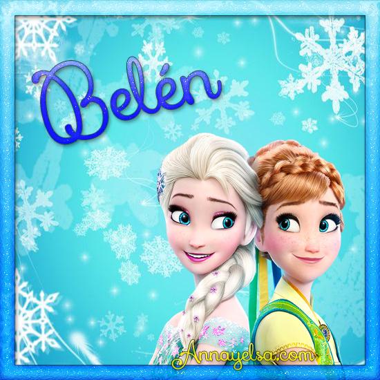 Imagen de Frozen con nombre Belén