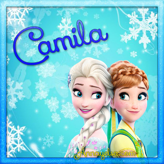 Imagen de Frozen con nombre Camila