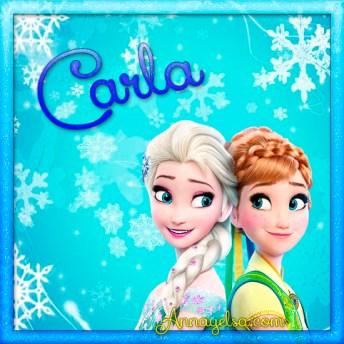 Imagen de Frozen con nombre Carla