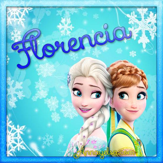 Imagen de Frozen con nombre Florencia
