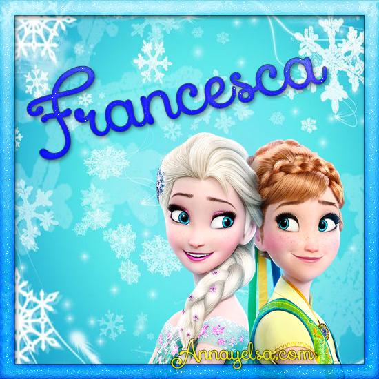 Imagen de Frozen con nombre Francesca