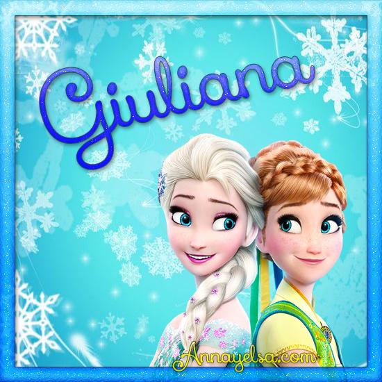 Imagen de Frozen con nombre Giuliana