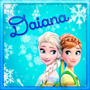 Imagenes de Frozen con nombre Daiana
