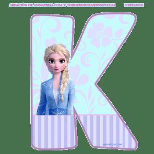 Letra K Abecedario Frozen