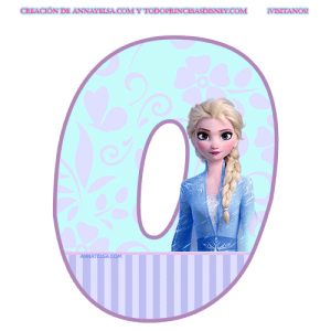 Letras de frozen para decoracion