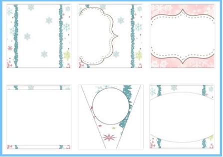 Decoración con copos de nieve imprimibles para descarga gratiss