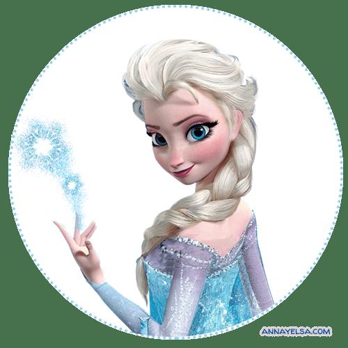Stickers Elsa Frozen etiquetas