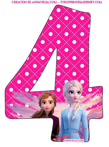 Numeros Frozen para Imprimir