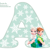 Letras de Frozen Fever Alfabeto para Imprimir Gratis