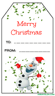 Frozen Tags Merry Christmas Olaf