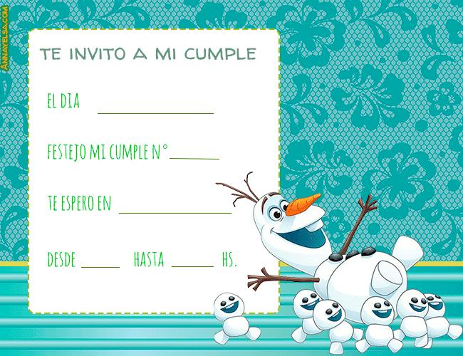 Tarjetas de Olaf cumpleanos
