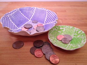 07-2014 ABD FAUX QUILTED MAKINS CLAY BOWLS 1