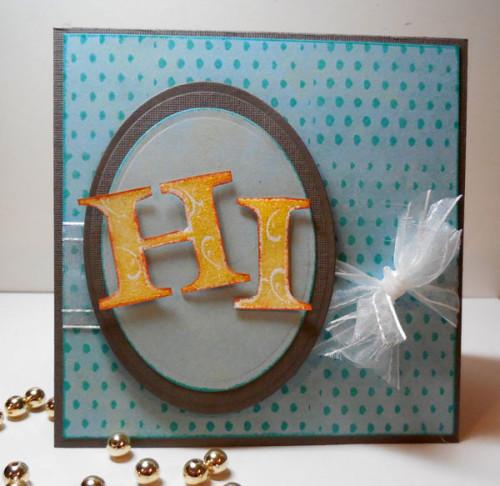 CAS Pretty hi Card