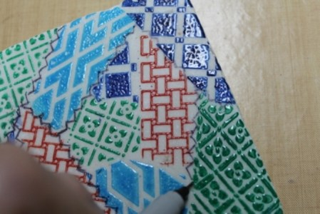 Faux Quilted Marble Coaster Ann Butler Designs 4