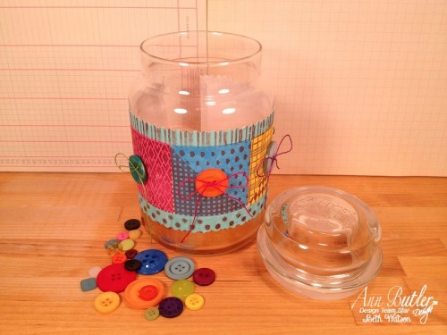 Ann Butler Designs CANDLE JAR WRAP created by Beth Watson