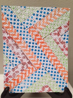 Strip Pieced Faux Quilted Card