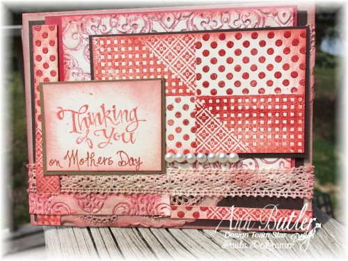 Layered Faux Quilted Thinking of You Card
