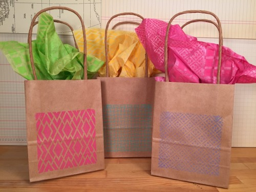 Background Basics Faux Quilted Gift Bags and Tissue Paper