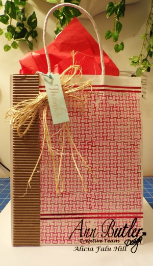 Quick and Easy Stamped Gift Bag