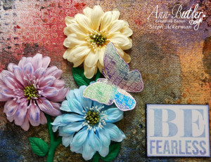 floral canvas with ann butler designs