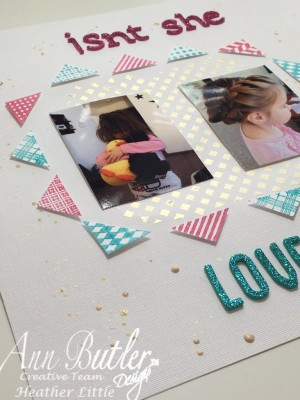 Scrapbooking Layout using Ann Butler Designs products