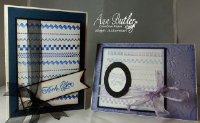Faux Stitched Backgrounds for Cards