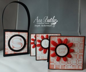 Gift set Ann Butler Designs Background Basics Monogrammed Gift Card Set