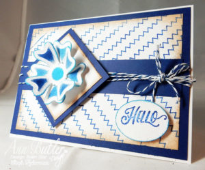 Ann Butler Designs Stitch Stamp Hello